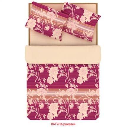 """Фото -Сімейний комплект постільної білизни Home Line """"Лагуна"""" (рожевий) 88514"""