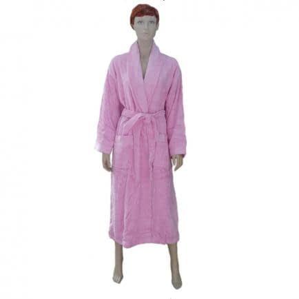 """Фото -Халат махровый L/XL """"Бемби"""" (розовый) 82415"""