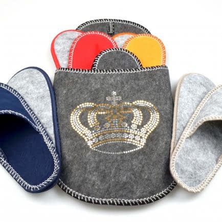 "Фото -Набор тапок в чехле ""Crown"" (5 пар) 126044"