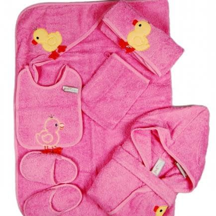 """Фото -Набор махровых полотенец для купания 6 шт. Home Line """"Етедак"""" (розовое) 87655"""