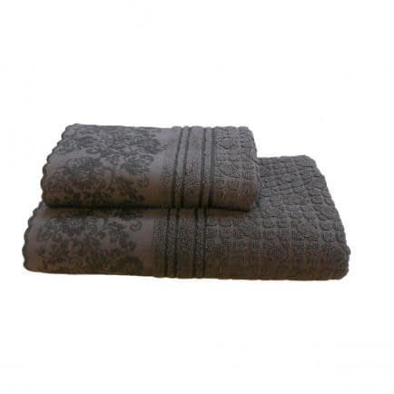 "Фото -Полотенце махровое Shamrock ""Hellen"" (темно-коричневое), 70х140см 99080"