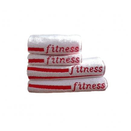 """Фото -Полотенце махровое Shamrock """"Fitness"""" (белое), 70х140см 94427"""