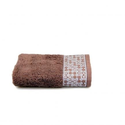 """Фото -Полотенце махровое Shamrock """"Lykia"""" (темно-коричневое), 50х90см 99095"""