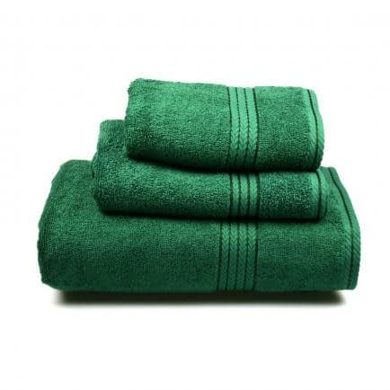 Фото -Полотенце махровое Home Line (темно-зеленое), 70х140см 96288