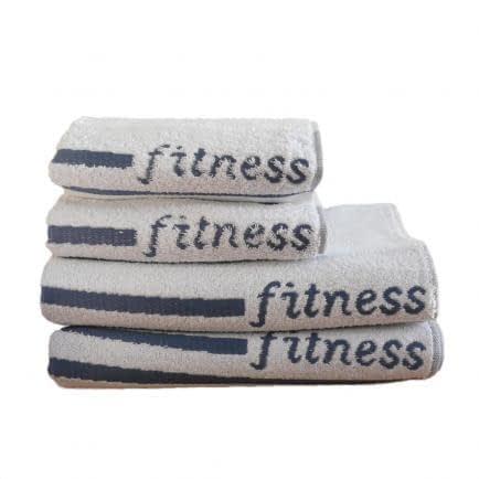"""Фото -Рушник махровий Shamrock """"Fitness"""" (білий), 30х110см 94418"""