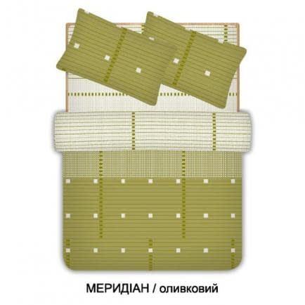 """Фото -Евро комплект постельного белья Home Line """"Меридиан"""" (оливковый) 96591"""