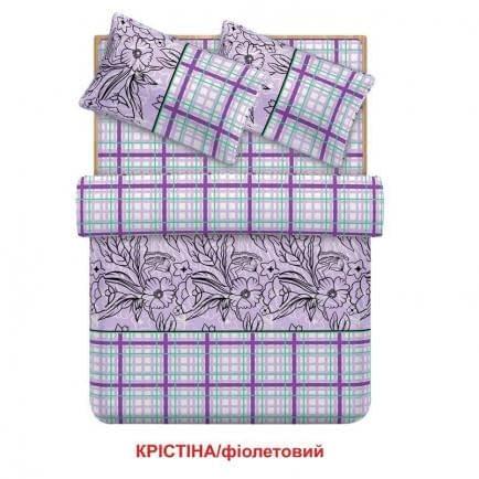 """Фото -Евро комплект постельного белья Home Line """"Кристина"""" (фиолетовый) 95685"""