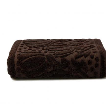 """Фото -Полотенце махровое Shamrock """"Iola"""" (темно-коричневое), 70х140см 94560"""