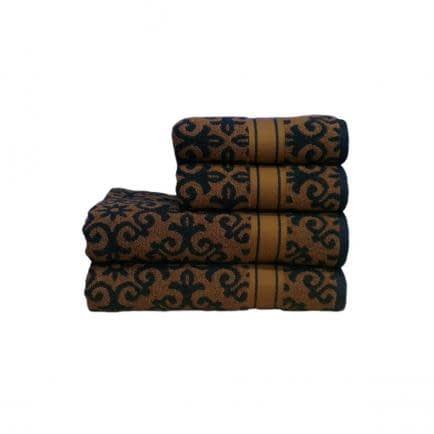 """Фото -Полотенце махровое Shamrock """"Shiraz"""" (черное), 50х90см 95461"""