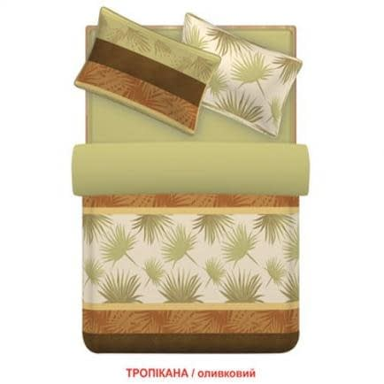 """Фото -Семейный комплект постельного белья Home Line """"Тропикана"""" (оливковый) 88546"""