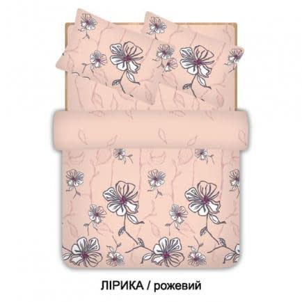 """Фото -Евро комплект постельного белья Home Line """"Лирика"""" (розовый) 96525"""