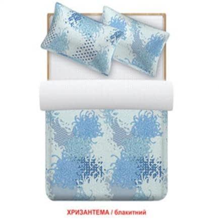 """Фото -Півтораспальний комплект постільної білизни Home Line """"Хризантема"""" (блакитний) 88527"""