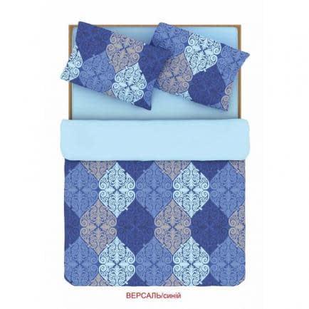 """Фото -Семейный комплект постельного белья Home Line """"Версаль"""" (синий) 88182"""