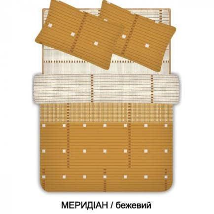 """Фото -Евро комплект постельного белья Home Line """"Меридиан"""" (бежевый) 96553"""