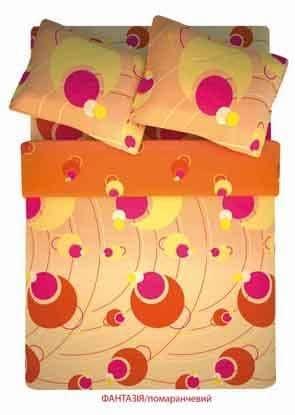 """Фото -Семейный комплект постельного белья Home Line """"Фантазия"""" (оранжевый) 86744"""