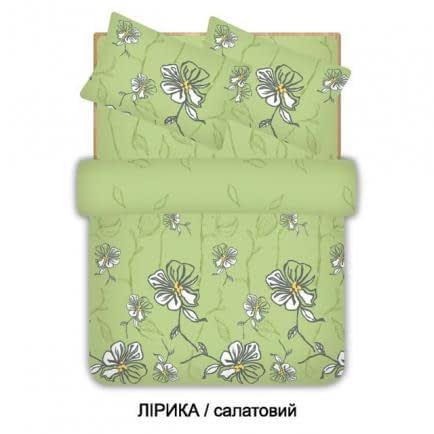 """Фото -Евро комплект постельного белья Home Line """"Лирика"""" (салатовый) 96529"""