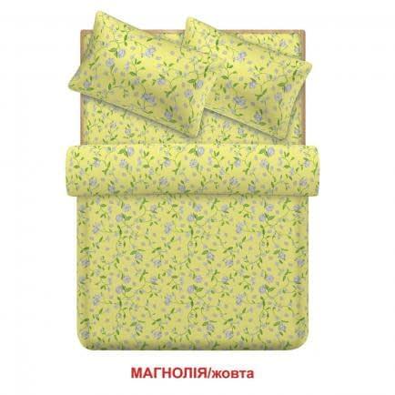 """Фото -Євро комплект постільної білизни Home Line """"Магнолія"""" (жовтий) 95701"""