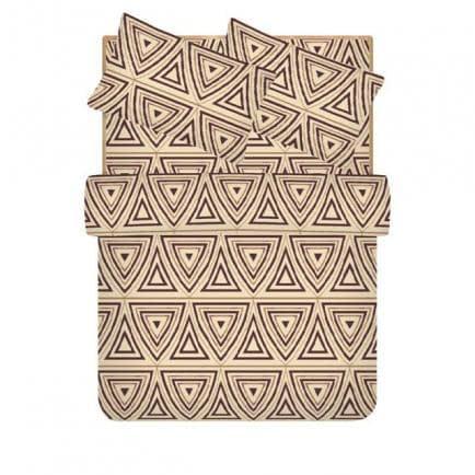 """Фото -Семейный комплект постельного белья Home Line """"Майя"""" (коричневый) 96538"""