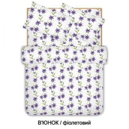 """Фото -Семейный комплект постельного белья Home Line """"Вьюнок"""" (фиолетовый) 96546"""