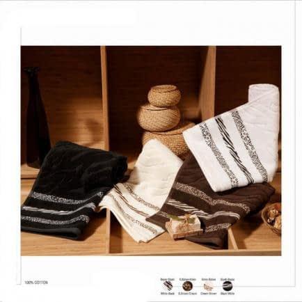"""Фото -Полотенце махровое Shamrock """"Niobe"""" (темно-коричневое), 50х90см 94348"""