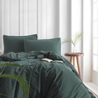 """Семейный комплект постельного белья Limasso """"Dark green"""" (зеленый) 147929"""