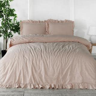 """Семейный комплект постельного белья Limasso """"Pristine"""" (розовый) 141702"""