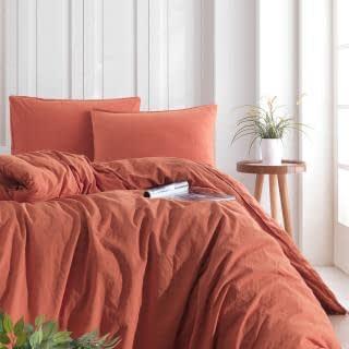 """Семейный комплект постельного белья Limasso """"Mecca orange"""" (оранжевый) 160649"""